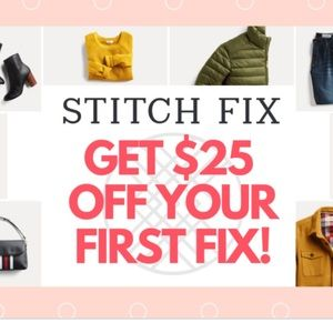 Stitch fix ISO AND $25 off coupon code for you!